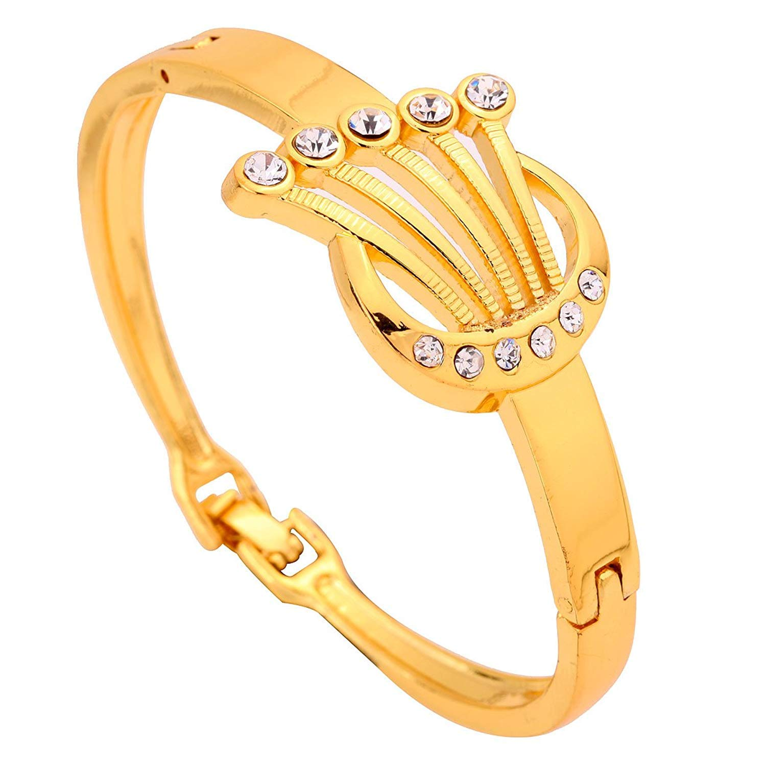 DVANIS Jewelry Charms Hollow Design Crystal Inlay Gold Plated Bracelet Bangle Bdangle Bangle Women