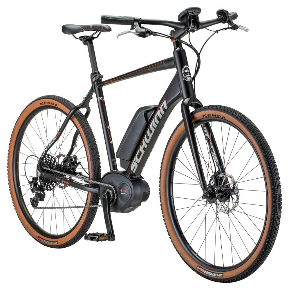 Schwinn Vantage FXe 650b Electric Sport Hybrid Road Bike, 51cm/Small Frame,  Matte Black/Copper