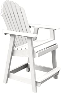 Highwood AD-CHCA2-WHE Hamilton Counter Height Deck Chair, White