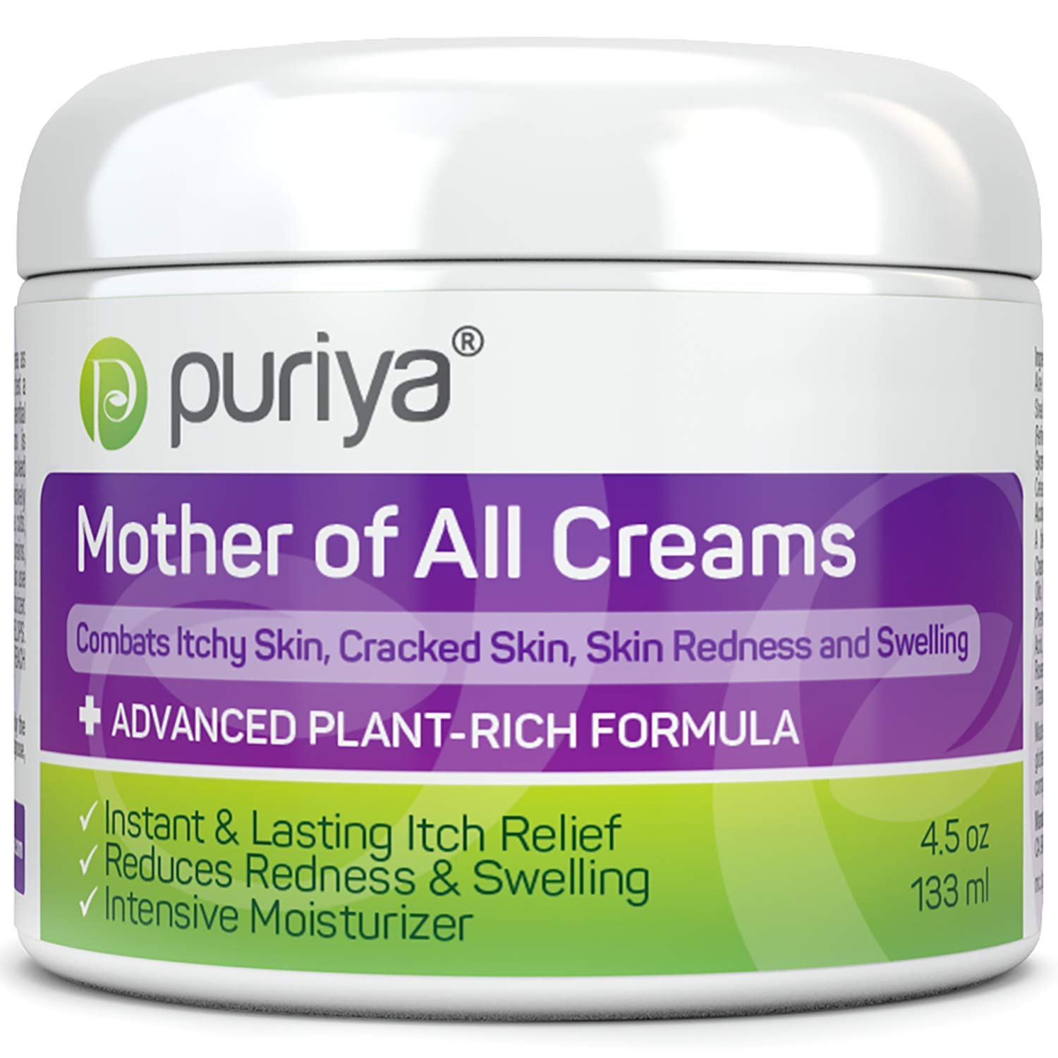Puriya Dry Cracked Sensitive Skin Moisturizer -Award Winning - Trusted by 300,000 Families - Plant Based Instant Lasting Relief. Hydrates and Softens Rough Skin. Intensive Body, Hand, Foot, Face Cream by Puriya