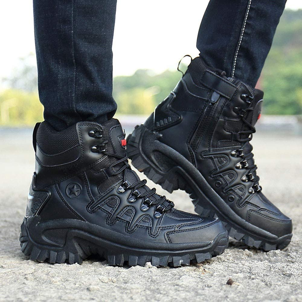 b96f2bb95fd0c9 Clearance Sale!Caopixx Men's Sport Army Tactical Boots Desert Outdoor  Hiking Leather Boots Combat Shoes. Back. Double-tap to zoom