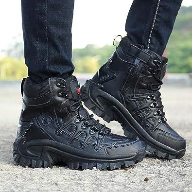 b2a486e553b Amazon.com: Fheaven Ankle Boots Sport Army Men Tactical Boots Lace ...