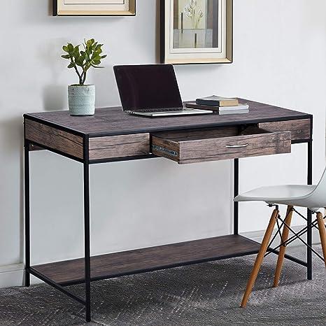 FurnitureR Escritorio Grande con cajón Escritorio de computadora ...
