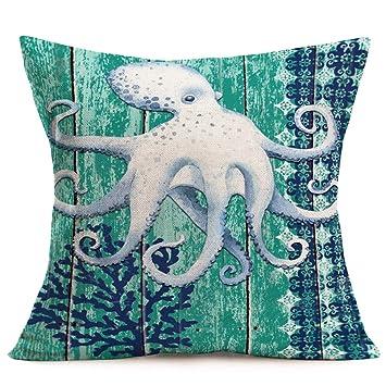 Amazon.com: Aremazing - Funda de cojín de lino y algodón ...