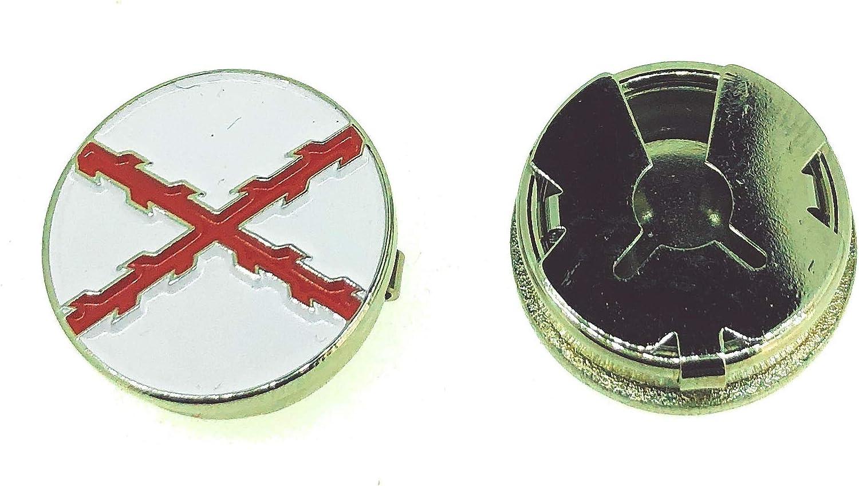 Gemelolandia Cubrebotones Bandera de la Cruz de Borgoña Cruz de San Andrés: Amazon.es: Ropa y accesorios