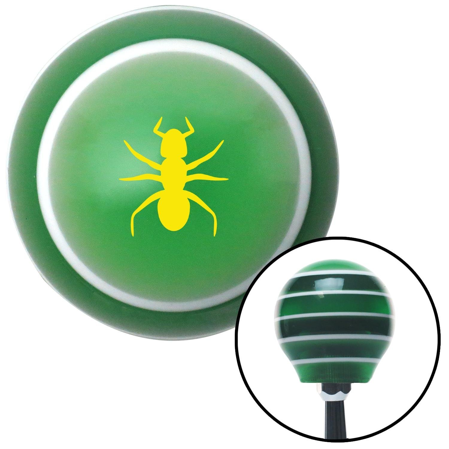 Yellow Ant Green Stripe with M16 x 1.5 Insert American Shifter 274716 Shift Knob