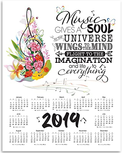 Amazon com: 2019 Calendar - Music Gives A Soul To The