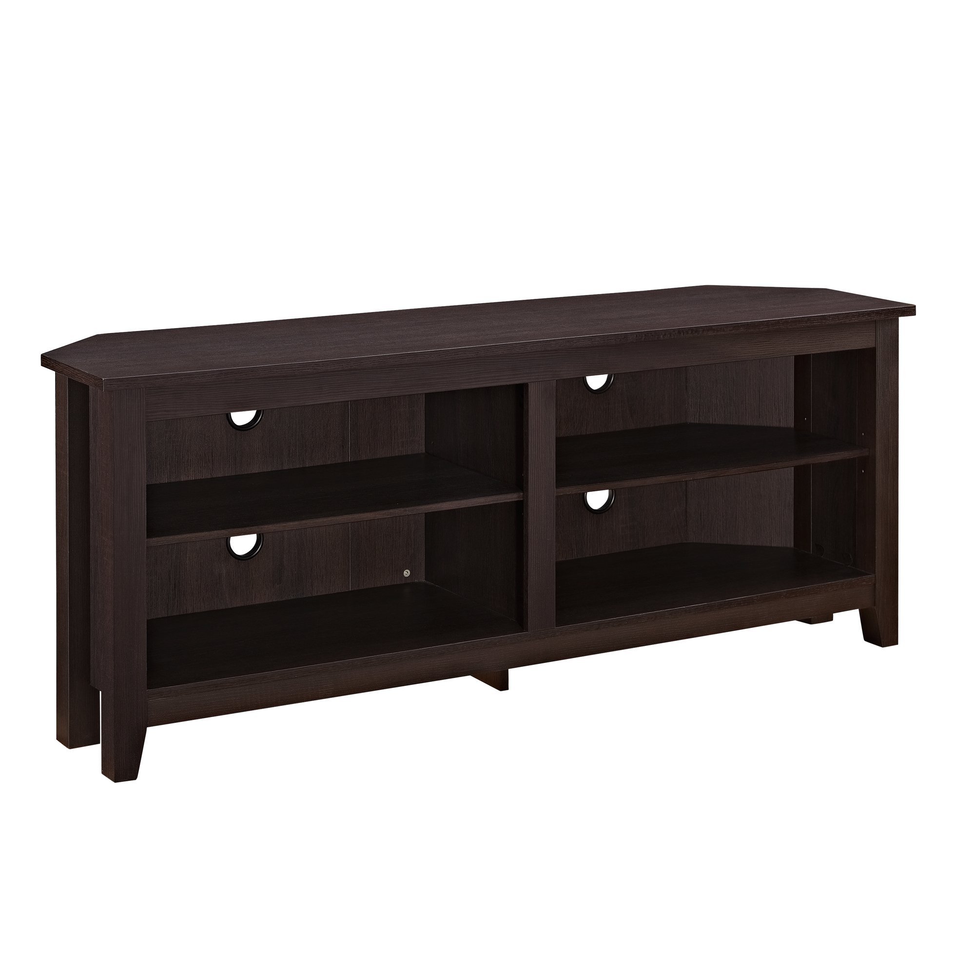 Simple Farmhouse Wood TV Stand with Storage Cabinets for TV's up to 56'' Living Room by WE Furniture