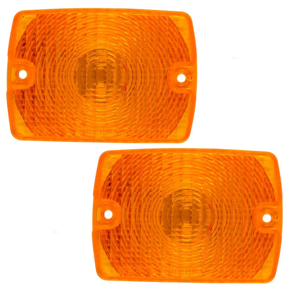 Pair of Park Signal Front Marker Lights Lamps Lenses Replacement for Jeep SUV 55055077