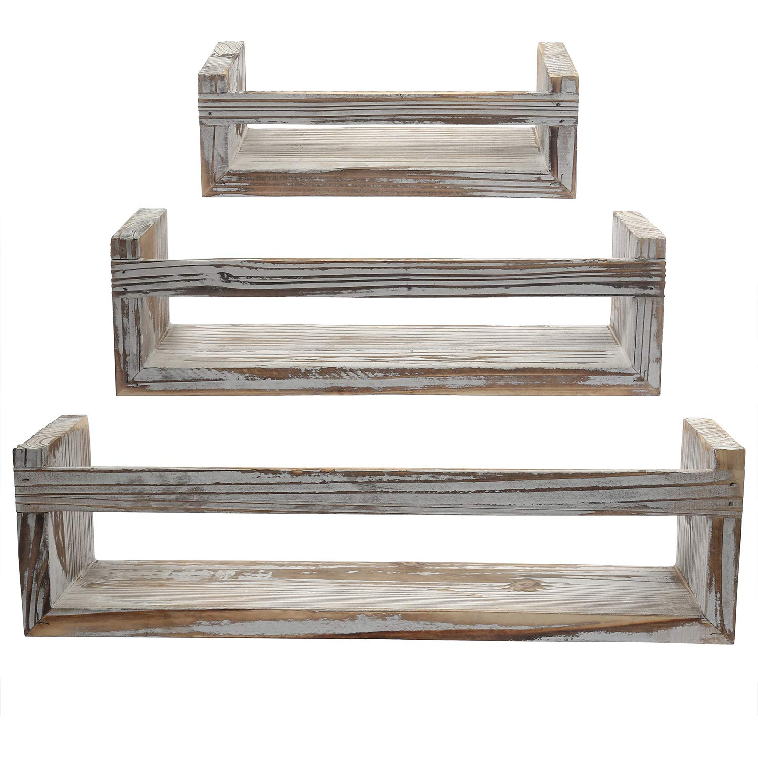 DOCMON Floating Shelves-Wall Shelf-Floating Shelf-Wall Shelves-Rustic Wall Mount Shelf for Bathroom Bedroom Living Room Kitchen Office and More
