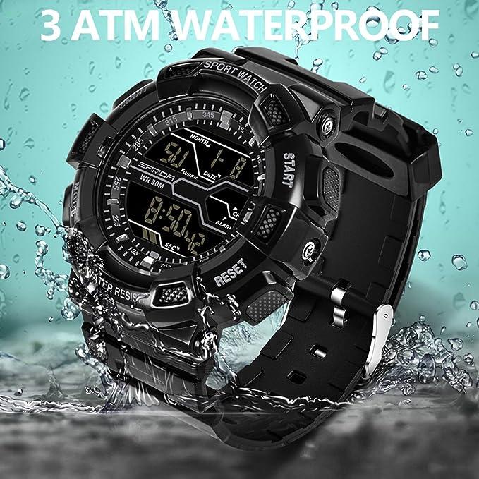Sanda Digital Relojes táctico militar senderismo deportes electrónicos Regalos para hombres: Amazon.es: Relojes