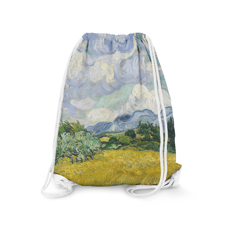 Queen of Cases Vincent Van Gogh Fine Art Painting Drawstring Bag - Small (11.7 x 14.6)