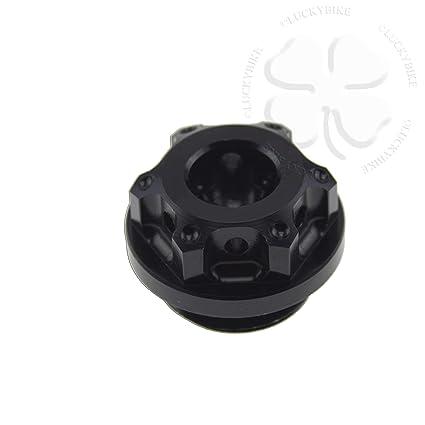 CNC GP Engine Oil Cap Black For Yamaha YZF R6 R1 Seal CNC Aluminum Filler  Lid