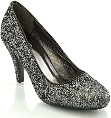 Amazon.com | ESSEX GLAM Womens Mid Low Heel Pumps Party