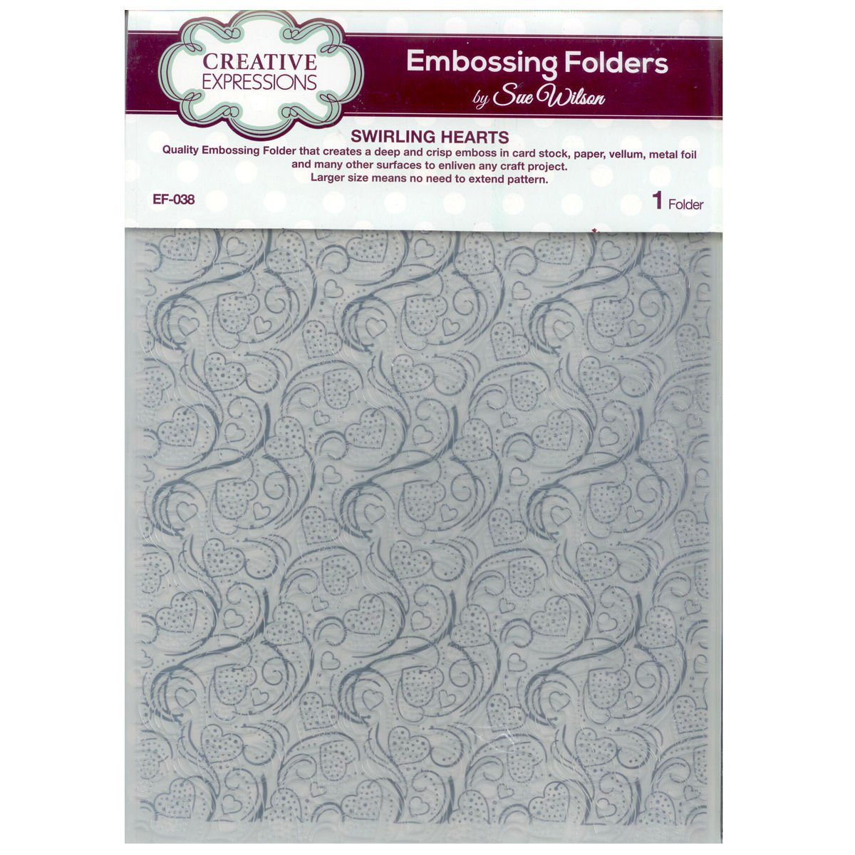 Lifestyle crafts embossing folders - Creative Expressions Swirling Hearts A4 Embossing Folder Ef 038 Sue Wilson Amazon Co Uk Kitchen Home