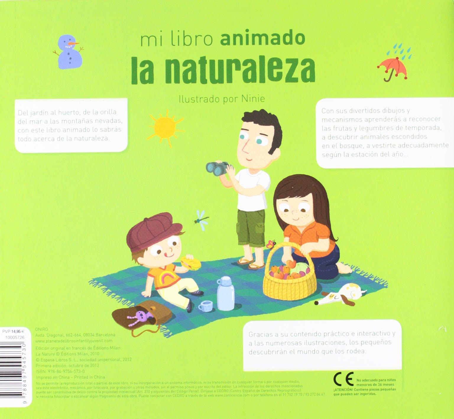 La naturaleza: mi libro animado Primeros aprendizajes: Amazon.es: Ninie, Editorial Planeta S. A.: Libros