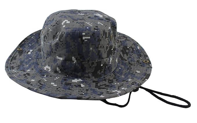 34ab6e797b9 Packable Boonie Hat Bucket Hat for Men (Blue Camo) at Amazon Men s ...
