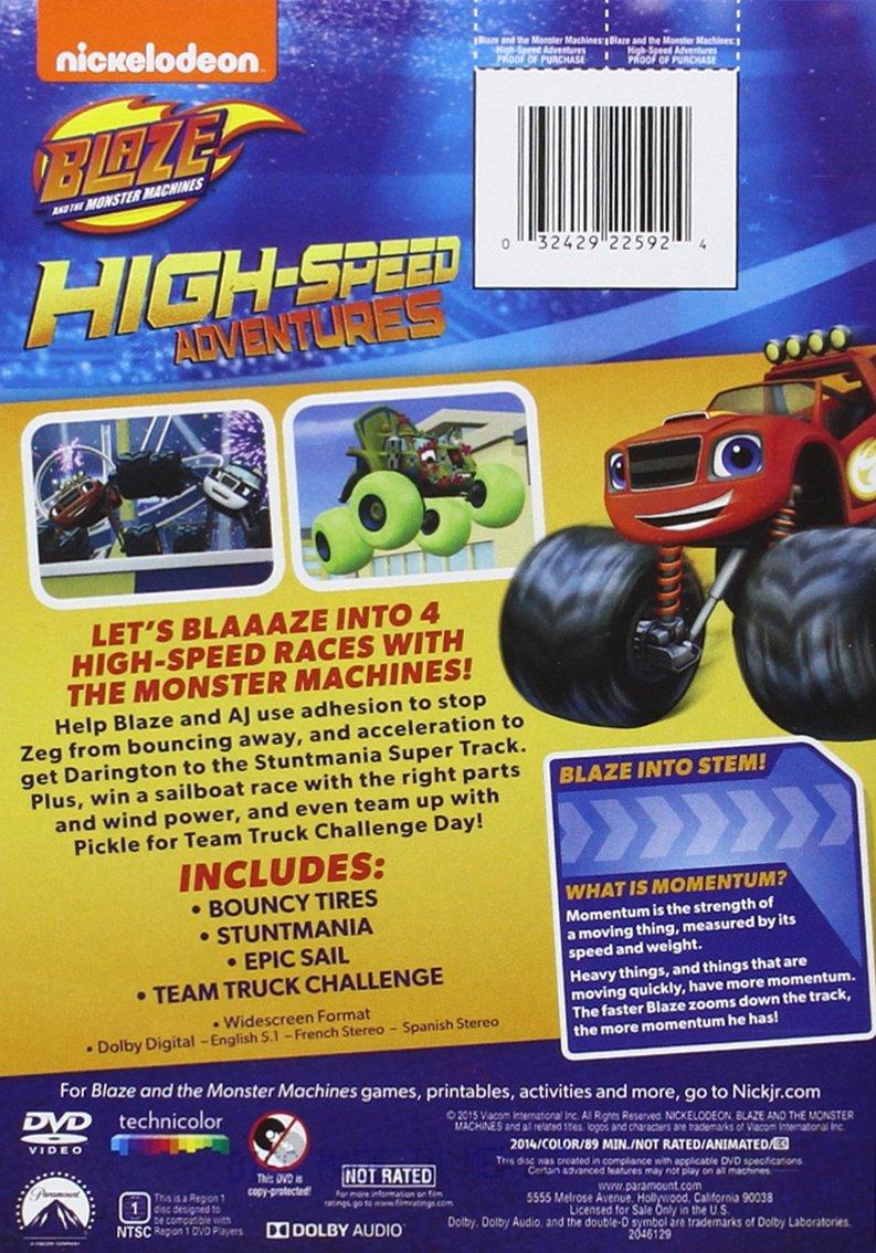 Pics photos description from nick jr favorites vol 2 dvd wallpaper - Amazon Com Blaze The Monster Machines High Speed Adventure Artist Not Provided Movies Tv