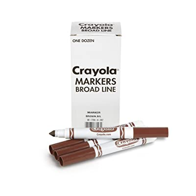 Crayola 12 Count Original Bulk Markers, Brown
