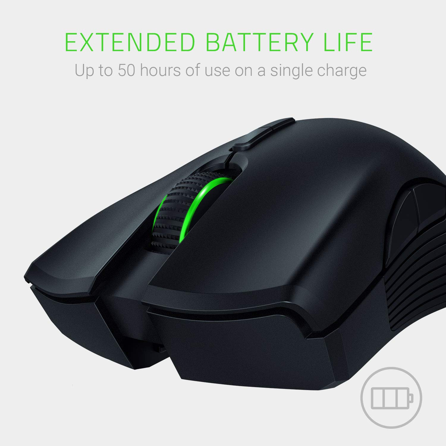 Razer Mamba Wireless Gaming Mouse: 16,000 DPI Optical Sensor - Chroma RGB Lighting - 7 Programmable Buttons - Mechanical Switches - Up to 50 Hr Battery Life by Razer (Image #2)