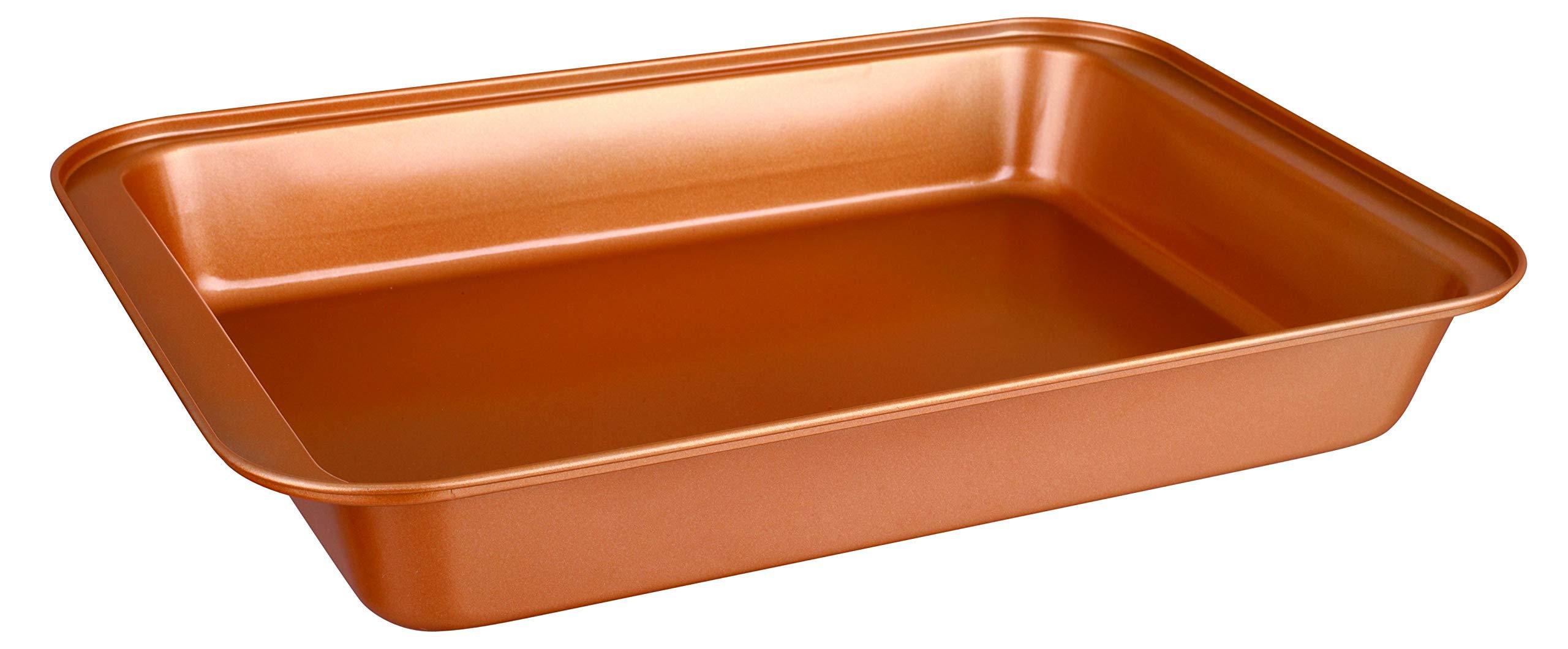 CopperKitchen Baking Pans - 3 pcs Toxic Free NONSTICK - Organic Environmental Friendly Premium Coating - Durable Quality - Rectangle Pan, Cookie Sheet - BAKEWARE SET (3) by CopperKitchenUSA (Image #8)