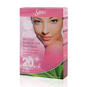 Silkia wax strips facial 10 strips