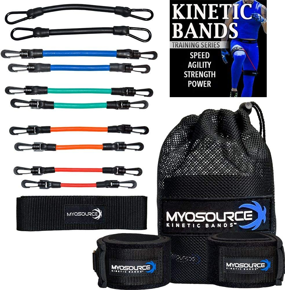 Kinetic Bands | Speed Leg Resistance Bands with Speed and Agility Digital Training Program, Workout Guides, Athletic Stretching Strap | Choose from 3 Levels (Level 3 – Advanced Athletes): Sports & Outdoors