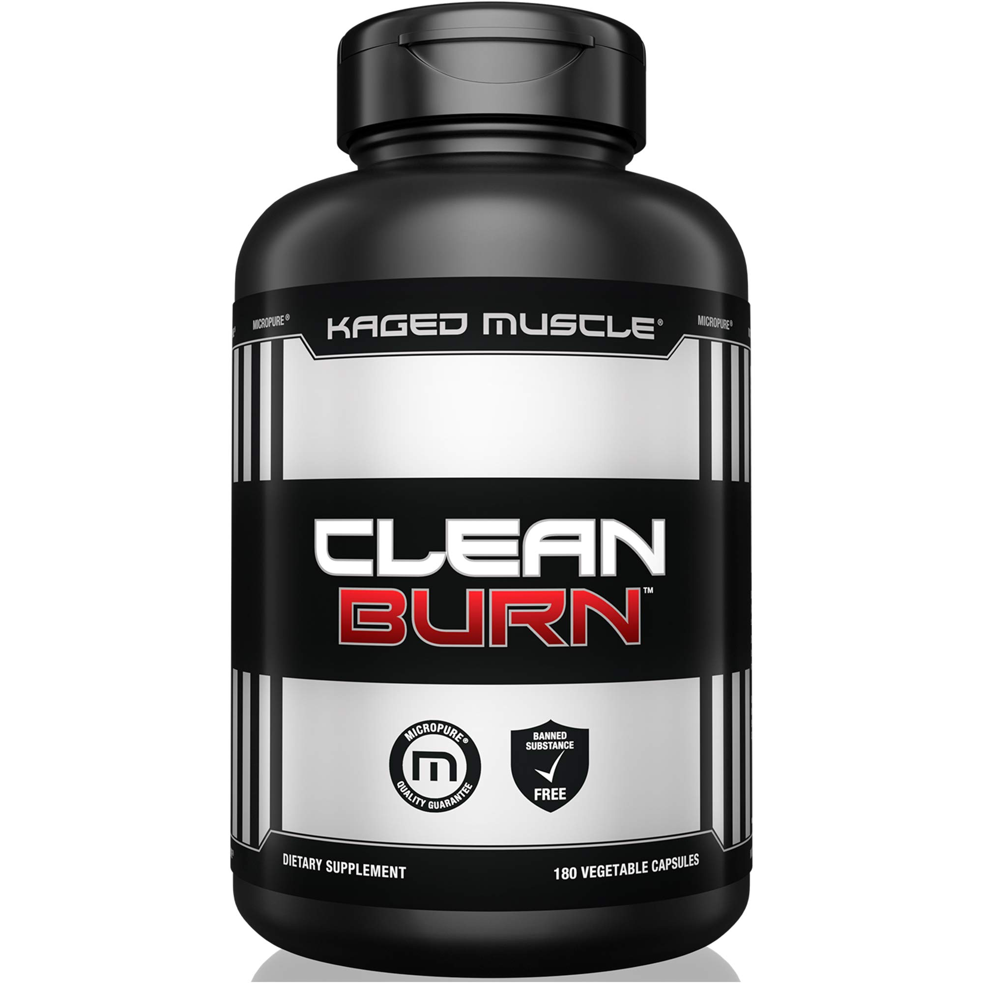 Kaged Muscle, Clean Burn Stimulant-Free Weight Loss Supplement for Men & Women, 180 Veggie Diet Pills by Kaged Muscle