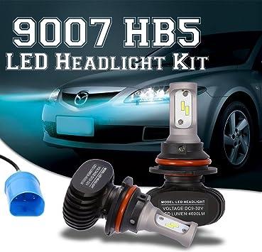 Cree 9007 HB5 LED Headlight Conversion Kit Bulbs Hi//Lo Beam Super Bright 2Pcs