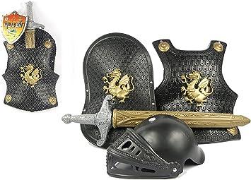 THEE Disfraz de Caballero Medieval Juguetes Armadura para Niños ...