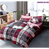 """RRC 200 TC Printed Cotton Single Duvet Cover, 60"""" x 90"""" Inch (Red)"""