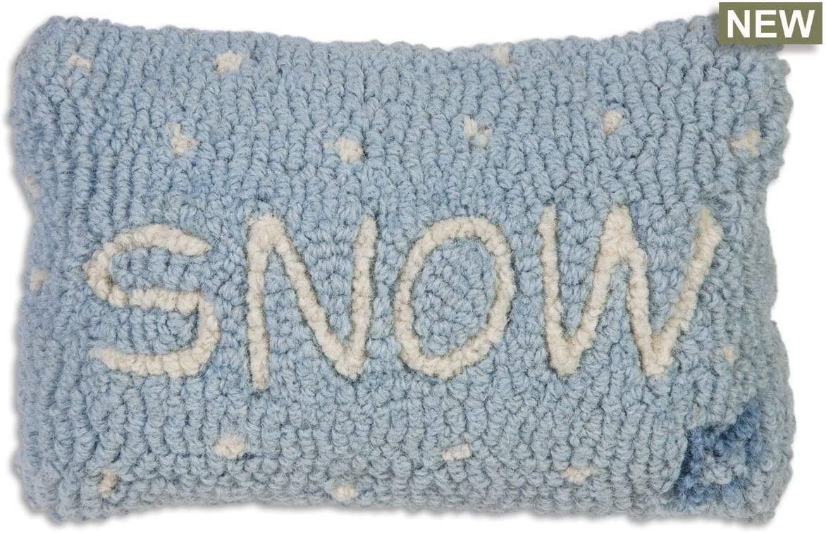 Chandler 4 Corners Snow 8 x12 Hooked Pillow