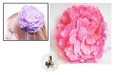 une grande variété de modèles incroyable sélection Découvrez Barrette Pince cheveux Grande Fleur Pivoine Rose + épingle ...