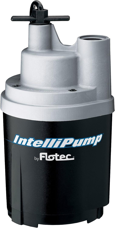 Flotec FPOS1775A IntelliPump Water Removal Utility Pump, 1790 GPH, 1/4 Hp, 115 Vac, 60 Hz, 15 Ft