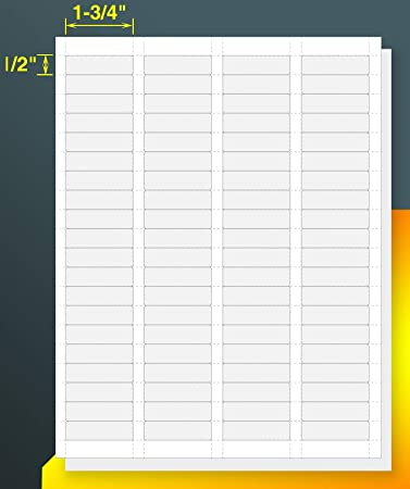 for Writing 2 x 0.5 White 2000 Pack Removable Rectangle Labels Stickers