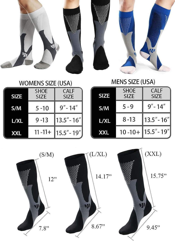 Medical Athletic Compression Socks Men Women 20-30mmHg Nursing Stocking for Traveling Running Marathon Basketball