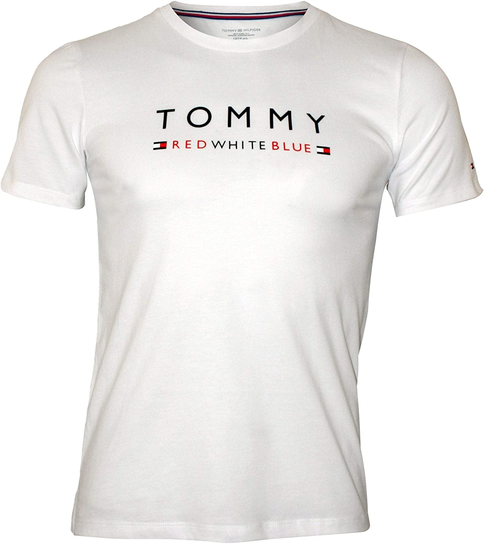 White Tommy Hilfiger Logo Crew-Neck Boys T-Shirt