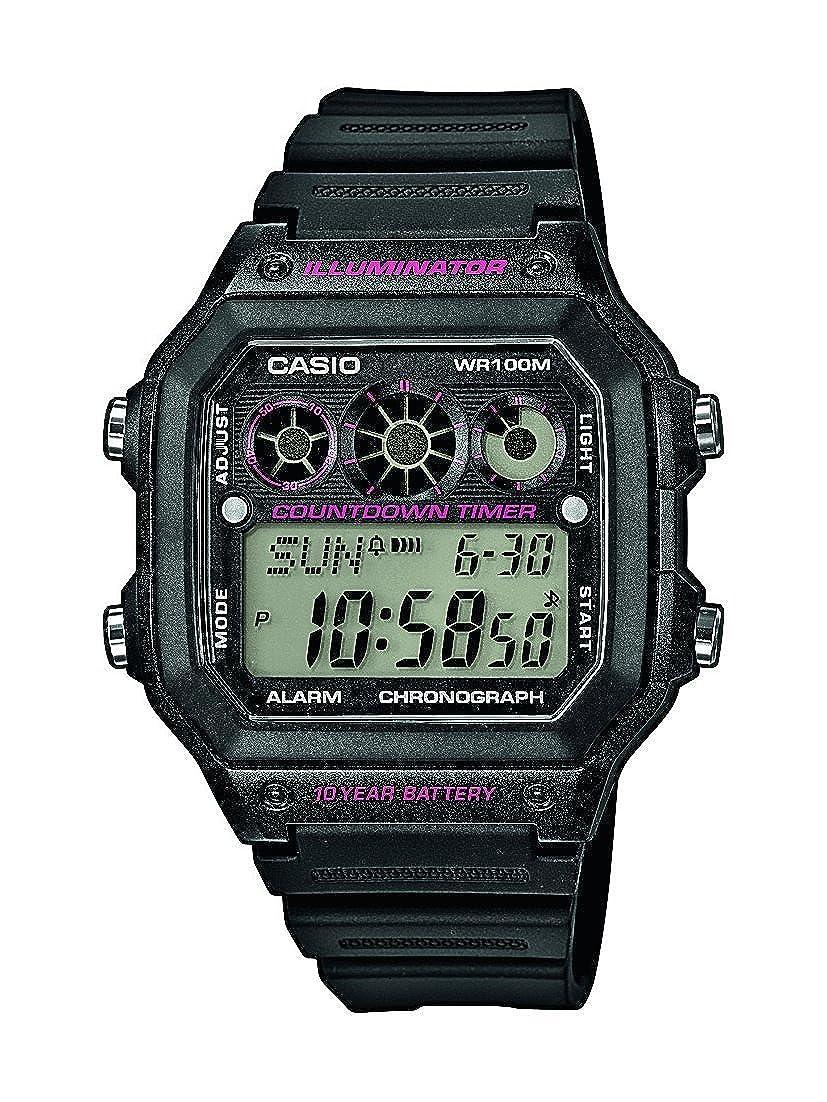Casio AE-1300WH-1A2VEF - Reloj (Reloj de Pulsera, Masculino, Resina, Negro, Resina, Negro)