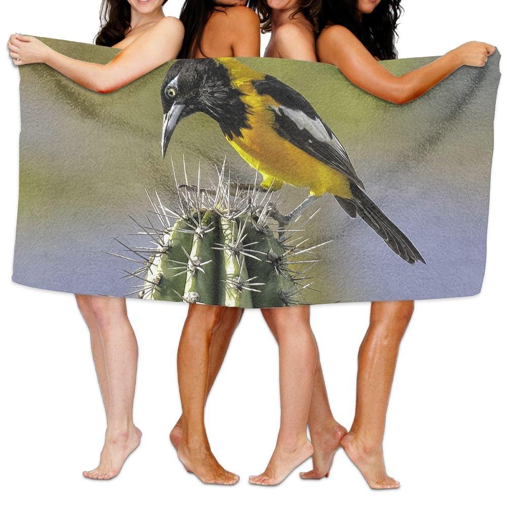 PengMin Hummingbirds Animal Cactus Premium 100% Polyester Large Bath Towel, Pool And Bath Towel (80'' X 130'') Natural, Soft, Quick Drying