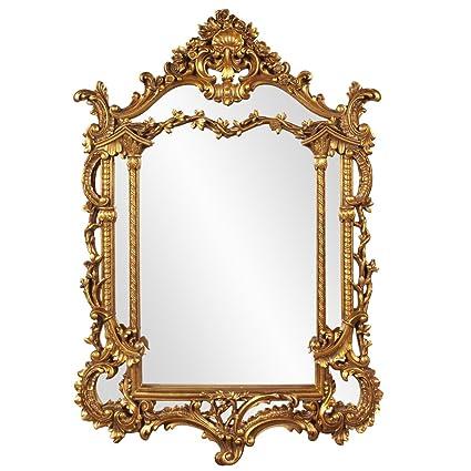 Amazon Com Howard Elliott Arlington Baroque Mirror Gold Leaf Resin