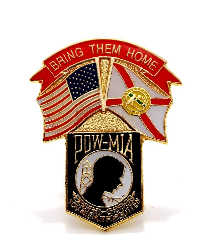 Wholesale Lot of 12 POW MIA Shield Bring Them Home Military Hat Lapel Pin Tg13