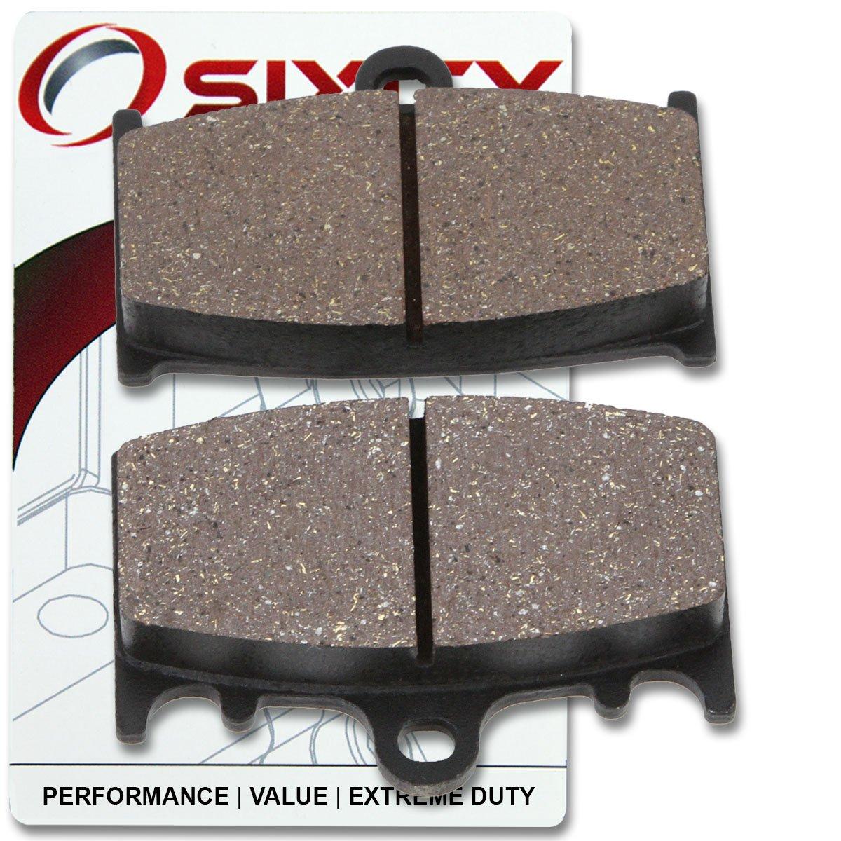 Sixity Rear Organic Brake Pads 2005-2009 for Suzuki C90 Boulevard Set Full Kit BK5 BK6 K5 K6 K8 K9 Complete