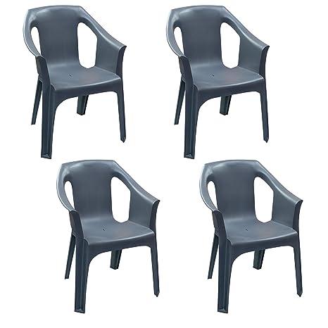 Sedie In Plastica Da Interno.Resol Cool Sedie Di Plastica Da Interni Ed Esterni 4 Pezzi