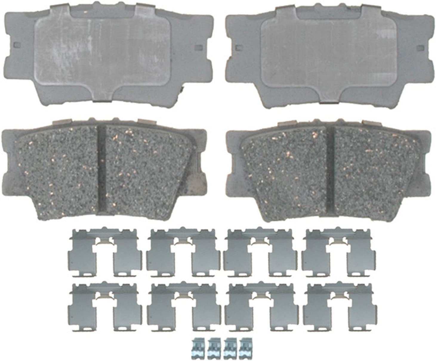 Disc Brake Pad Set-Ceramic Disc Brake Pad Rear ACDelco Advantage 14D1212CHF1