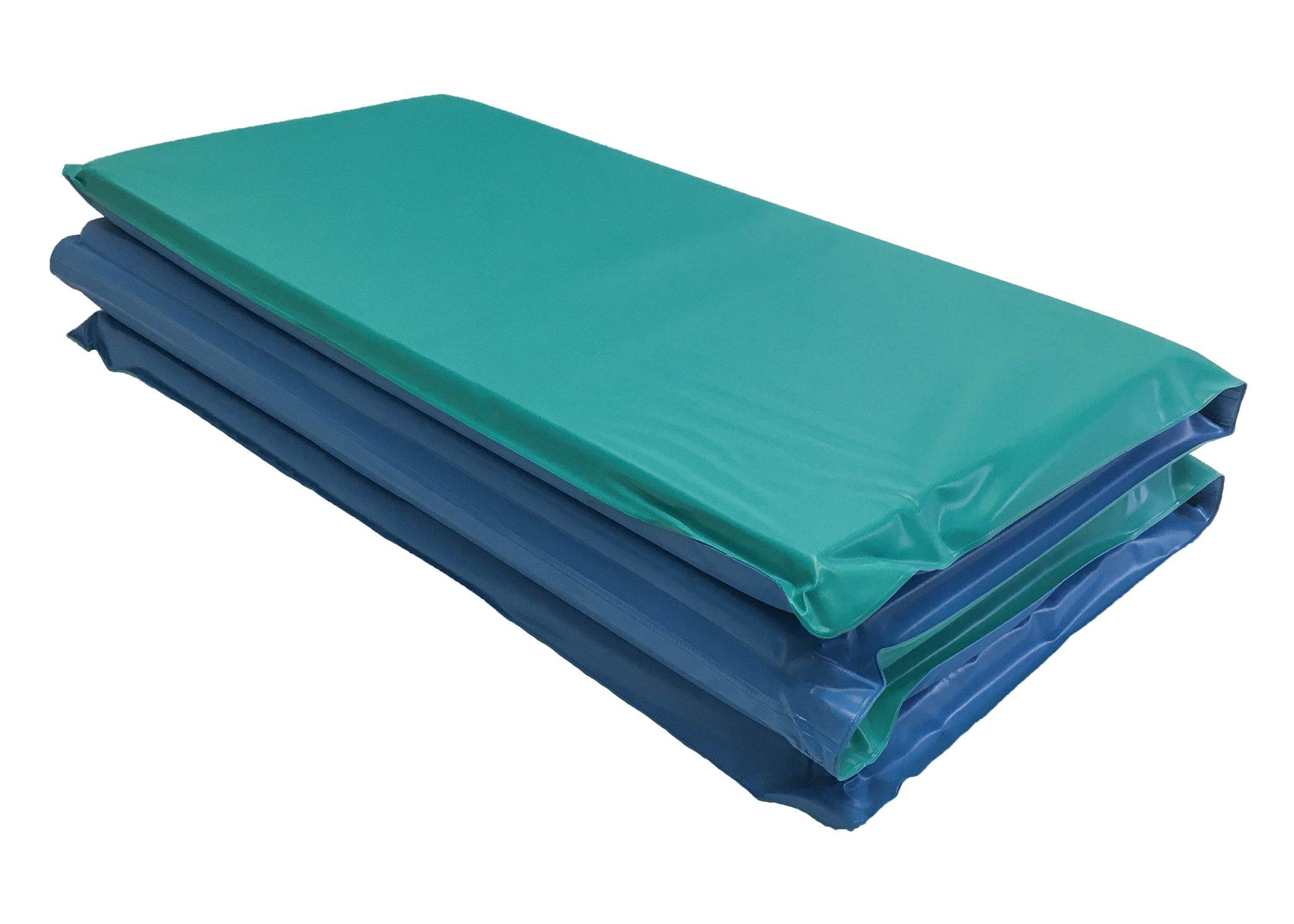 KinderMat DayDreamer Rest Mat, 1 Inch Thick, Blue/Teal, 10-mil Vinyl