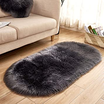 Baby Gyms & Playmats Mother & Kids Baby Playmats Wool Imitation Sheepskin Rugs Faux Fur Bedroom Shaggy Carpet Window Mats Livingroom Decor Sofa Office Mats