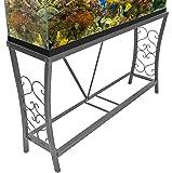 Aquatic Fundamentals 55 gallon Scroll Aquarium Stand, Silver