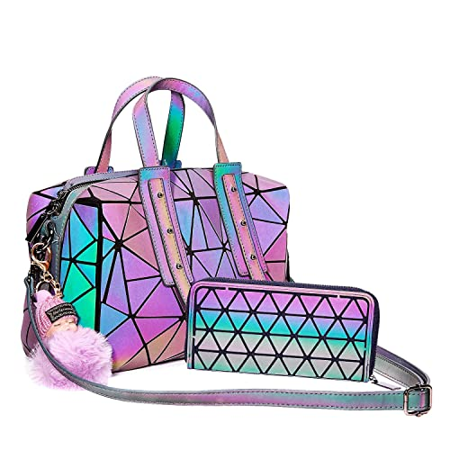 Amazon.com: Harlermoon Bolso Geométrico Luminoso Mujer Bolso ...