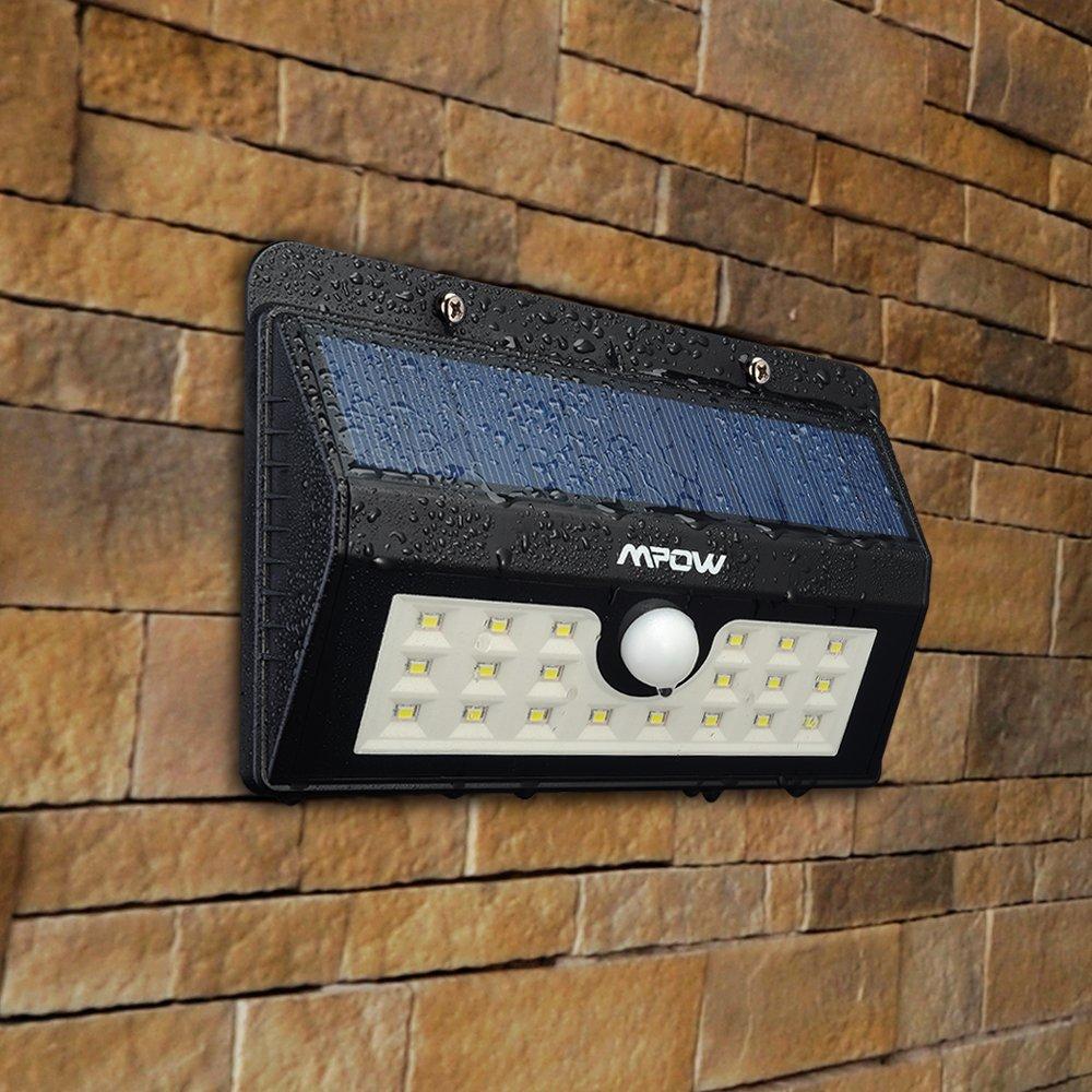 Lámparas Solares con 20 LEDs Impermeable con Sensor de Movimiento por solo 19,99€
