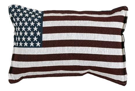 Amazon.com: Estados Unidos EE. UU. Tapestry Toss almohada ...